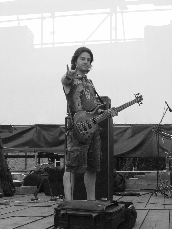 Federico Amorosi durante il soundceck