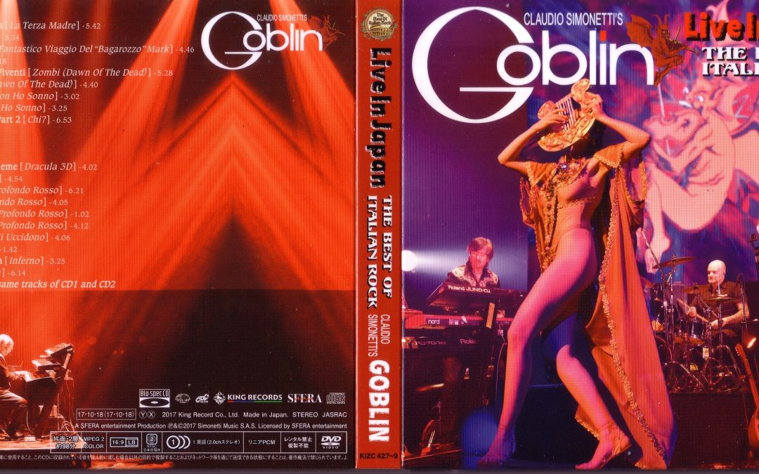 Simonetti's Goblin Live in Japan Cd & Dvd
