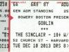 Biglietto Concerto Goblin - 10 Dicembre 2013 - Boston ( Usa )