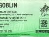 Biglietto concerto Goblin Rebirth  22 Aprile 2011 - Roma