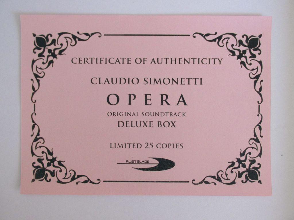 Opera Certifcato