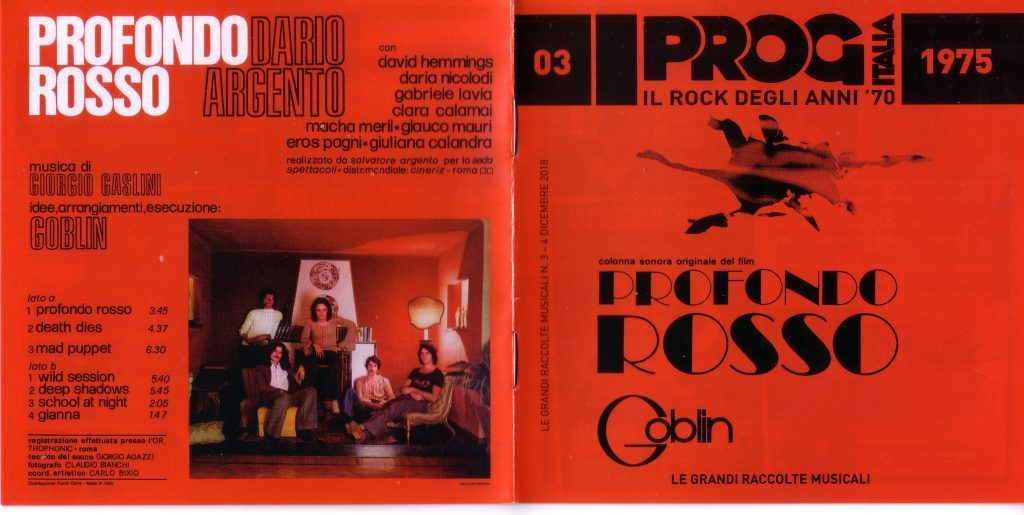 Side A: Profondo Rosso / Death Dies / Mad Puppet Side B: Wild Session / Deep Shadows / School at Night / Gianna